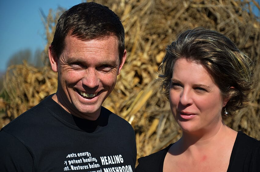 Neil and I. This picture was taken in 2011 on our smallholding.